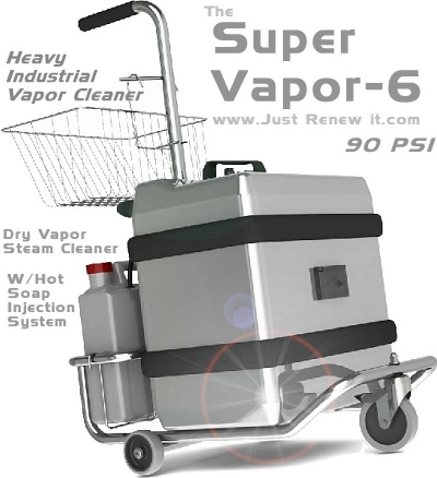 JRI Super Vapor Commercial VAPOR STEAM CLEANER Pro Grout Cleaning - Bathroom cleaning machine
